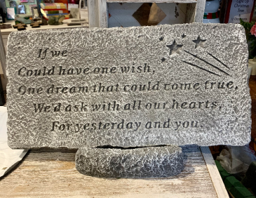 If we Could Have One Wish Memorial Stone