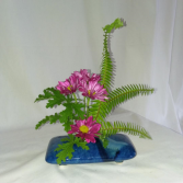 Ikebana Blue Ikebana Vase
