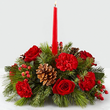 The FTD I'll Be Home for Christmas™ Candle Table Centerpiece