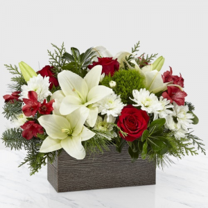 I'll Be Home for Christmas Centerpiece in Macon, GA | PETALS, FLOWERS & MORE