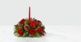 I'll Be Home for Christmas Table Centerpiece with Candle