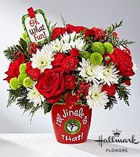 I'll Jingle to that Arrangement Christmas Flowers