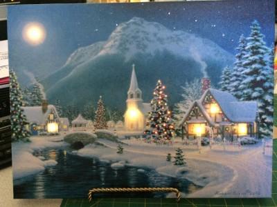 Illuminart Snowy Church Scene In West Columbia Sc