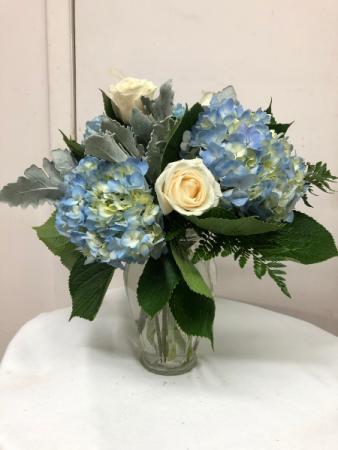 I'm Blue Over You Vase Arrangement