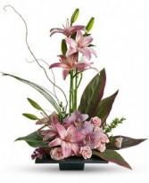 Pink lilies & Orchids Bqt.