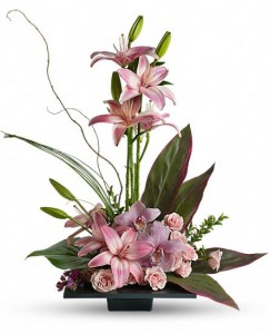 Pink lilies & Orchids Bqt.   in Fort Lauderdale, FL | ENCHANTMENT FLORIST