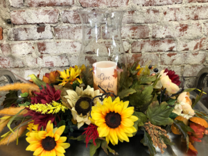 In All Things; Give Thanks Centerpiece in Beech Grove, IN | THE ROSEBUD FLOWERS & GIFTS