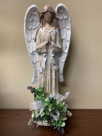 In Angels Arms  23 Inch Resin Angel