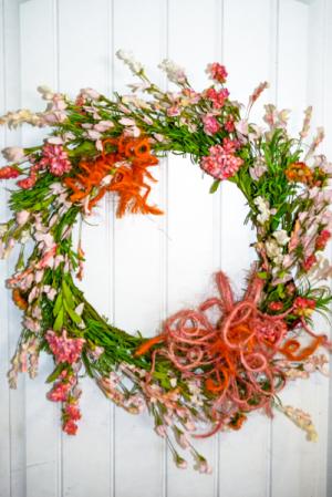 In Bloom Silk Wreath in Corner Brook, NL | The Orchid