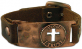 In God I Trust Men's Leather Bracelet