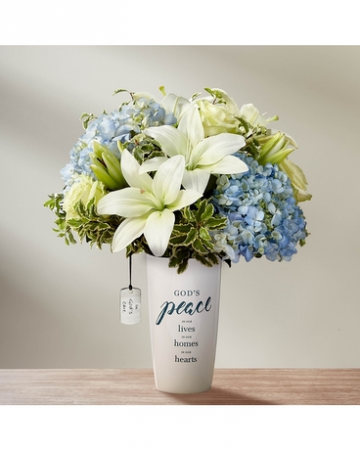 In God's Care Vase Arrangement with Tag