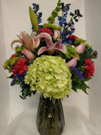 In Living Color (with pendant) Vase Arrangement