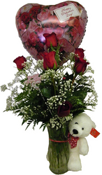 In Love Girl Fresh flowers  6 roses
