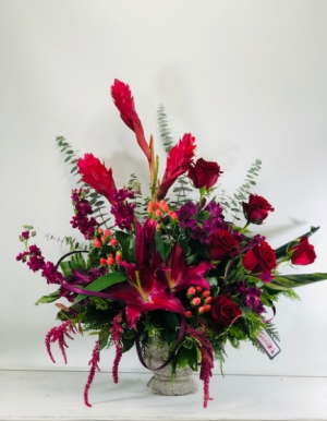 In Love With Lilies  Container Arrangement in North Bend, OR | PETAL TO THE METAL FLOWERS