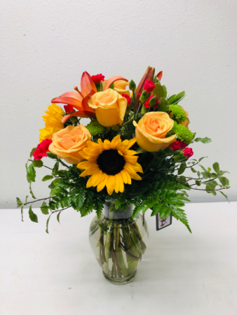 In Love With Yellow Flower Arrangement