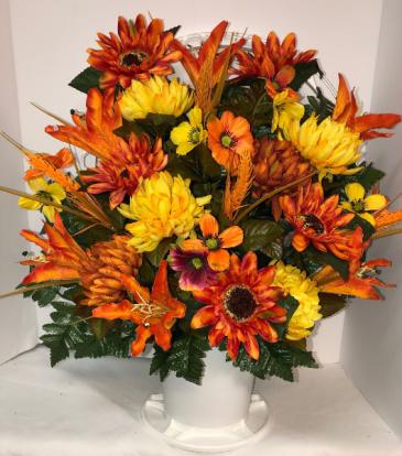 In Loving Memory - Autumn Silk Funeral Basket