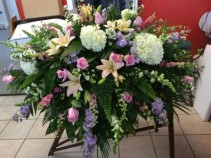 In Loving Memory Casket Arrangement