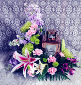 """In Loving Memory"" Copper  Lantern Floral Design"