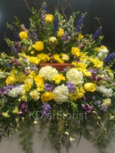 In Loving memory creamation flowers