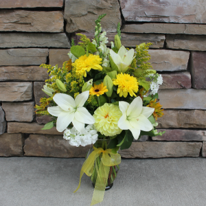 In Loving Memory Garden Vase Sympathy Vase in Woodinville, WA | Woodinville Florist®