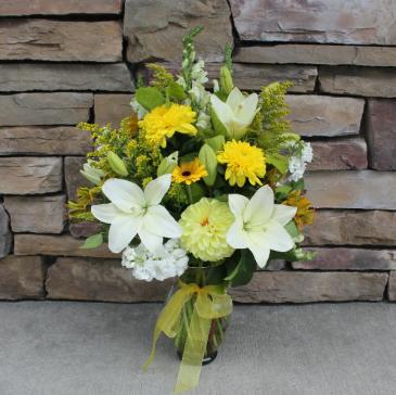 In Loving Memory Garden Vase Sympathy Vase