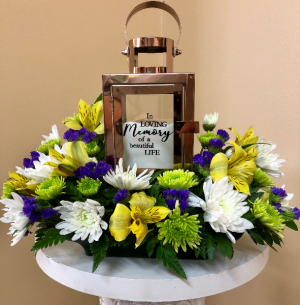 In Loving Memory Lantern Two Gifts In One in Springfield, IL | FLOWERS BY MARY LOU