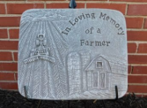 In loving memory of a farmer