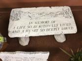 In Memory of a Life Memorial Bench
