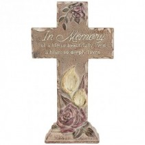 In Memory Cross statue Home & Garden collection