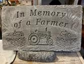 In Memory of a Farmer Memorial Stone