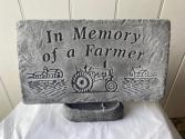 In memory of a farmer stone