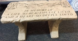 In Memory of a Life So Beautifully Lived Bench in Springfield, IL | FLOWERS BY MARY LOU INC
