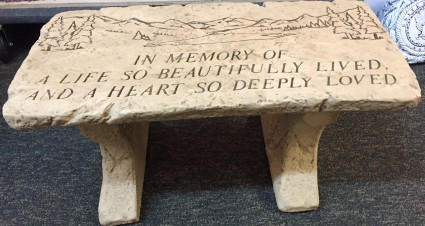 In Memory of a Life So Beautifully Lived Bench