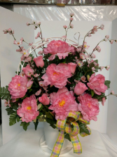 In Memory - Pink Silk Arrangement