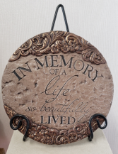 In Memory Plaque Resin