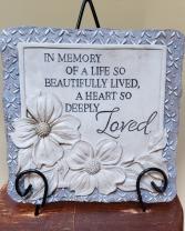 In Memory- Square Resin Memory Plaque
