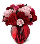In My Heart Posy Style Vase Arrangement