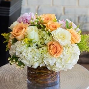 In Orange Love Vase Arrangement  in Teaneck, NJ | Teaneck Flower Shop (A.A.A.A.A.)