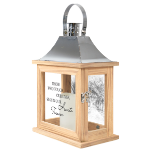In Our Hearts Forever Lighted Lantern with scenery in Plum, PA | FOREVER GREENE FLOWERS INC.