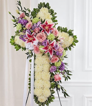 In our prayers cross.    in Ozone Park, NY | Heavenly Florist