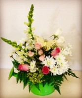 Spring Bouquet Pink, White & Yellow Mix in Plainview, Texas | Kan Del's Floral, Candles & Gifts
