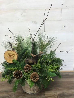 Indoor/outdoor arrangement Silk flowers