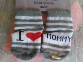 "Infant  ""I Love Mommy"" Socks"