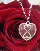 Infinity Heart Sterling Pendant (L)