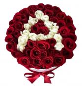 Initial rose box.   50 roses !!!!