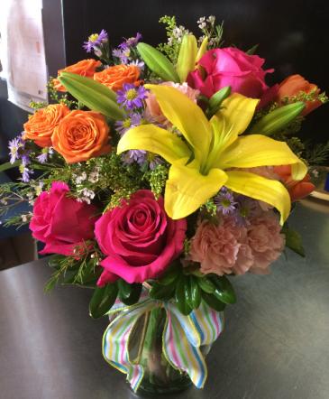 Inspiration Bouquet Vase Arrangement
