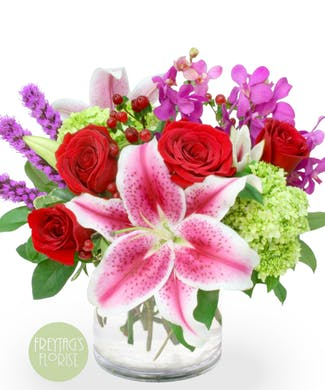 Inspire Me lilies and roses