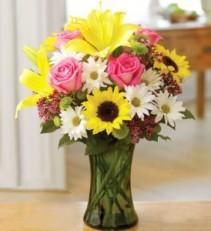 Inspire Vase Arrangement Summer Flowers