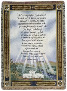 23 Psalm Throw Sympathy gift item