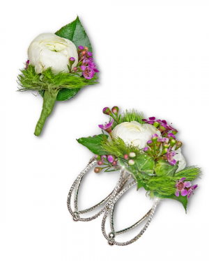 Intrinsic Corsage and Boutonniere Set Corsage/Boutonniere in Nevada, IA | Flower Bed